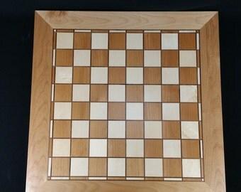 "Heirloom Handmade Hardwood Chess Board ""Chestnut"""
