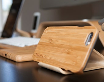 Bamboo Phone Holder - Desk Collection