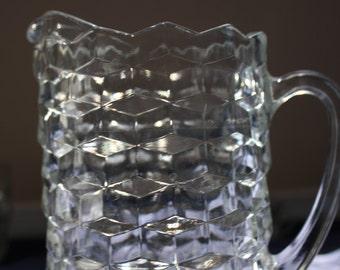 Fostoria Geometric Glass Pitcher