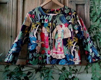"Cropped jacket ""Frida Kahlo"""
