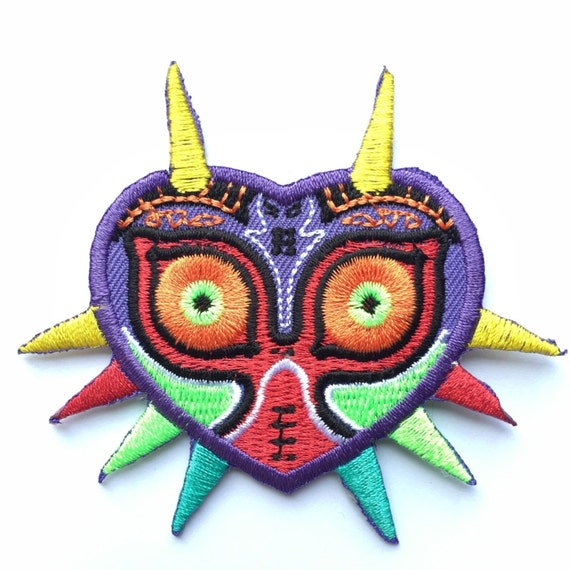 Legend Of Zelda Majora39s Mask Embroidery Patch Iron On