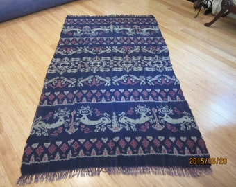 Large Indonesian IKAT weaving