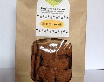 Dog Treats Banana, Banana Biscuits