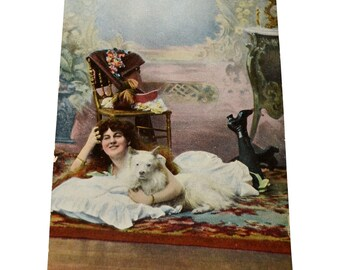 Risqué Postcard French Nude Card