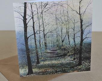 Visting Mr. Toad - Fine Art card - Trees - Woodland