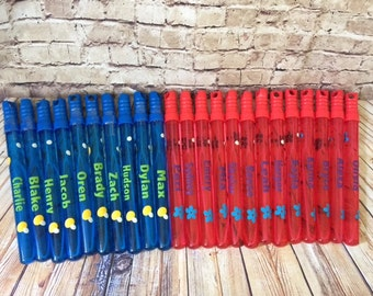 SEASONAL*Personalized bubble wands/summer party/ kids party favor