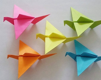 5 Origami cranes