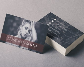 Business Card Template - Photographer Business Card - Photoshop Templates BC001