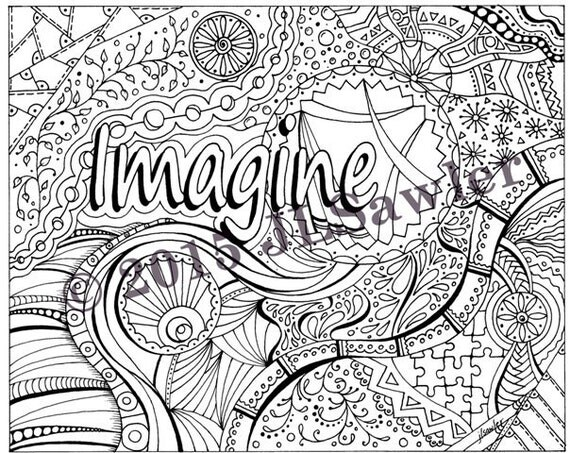Items Similar To Inspirational Doodle Art 3 Page Coloring