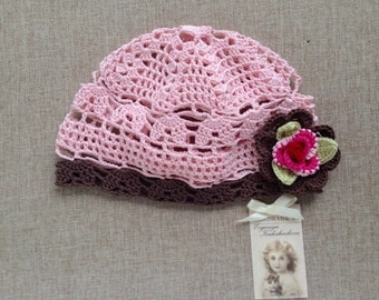 Pink hat with pink rose