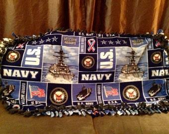 Enjoy this US Navy fleece blanket