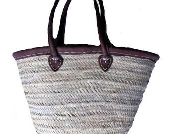 Moroccan woven shopping basket
