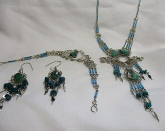 Traditional Native American Turquoise Jewelry Set