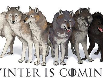 House Stark Direwolves: Winter Is Coming Sticker