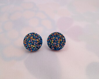 Wooden Painted studs/wedding gift/party wear/birthday gift/colleague/gifts/anniversary gift/mothers day/bridesmaid gifts/