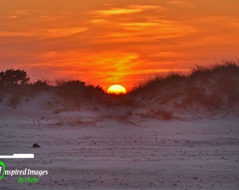 Landscape Photography, Sunset, Beach, Field, North Carolina, Outer Banks