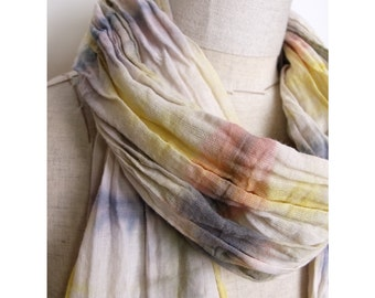 Hand dyed Cotton Scarf -INNU