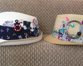 Hand customised hats