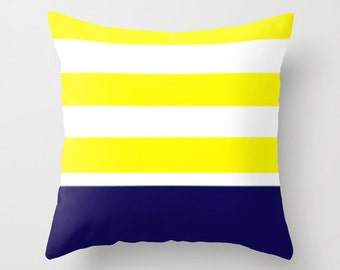 Nautical  Pillow Casing - Nautical Bedding - Marine Bedding - Stripped Nautical Bedding