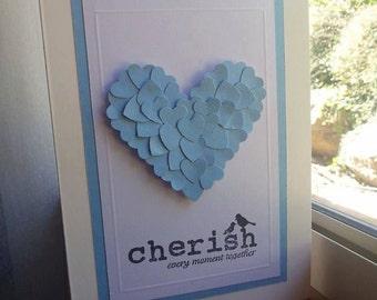 Handmade Anniversary Card with heart
