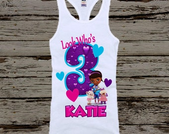 Doc McStuffins Birthday Shirt - Doc McStuffins Tank Top Available