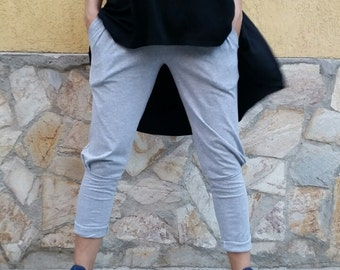 High-low Dress/ Loose Asymmetrical Tunic Top Sleeveless dress Cotton Maxi Dress Loose Sweater Cotton Blouse