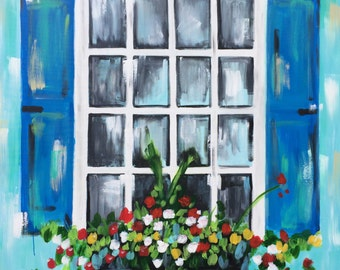 Come to My Window - acrylic on canvas