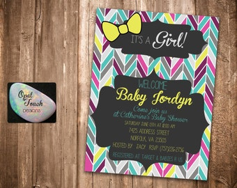 Multi Colored Baby Shower Invitation