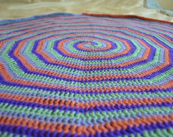 Crocheted Spiral Baby Blanket
