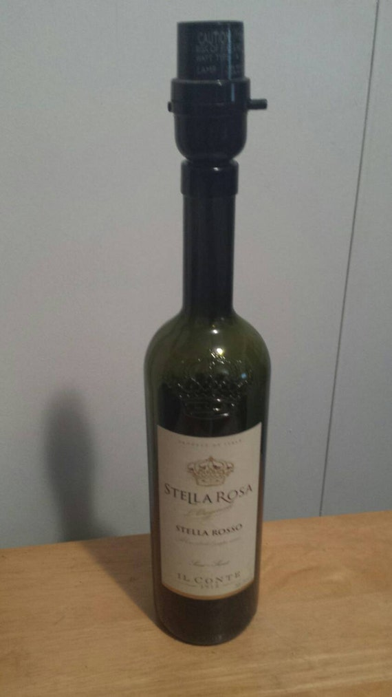 Stella Rosa Wine Bottle Lamp by TheMadHatter2012 on Etsy