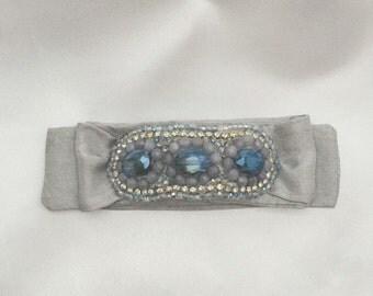 Tie Bracelet in ocean/slate