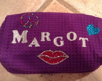 Personalized Zipper Make Up Bag