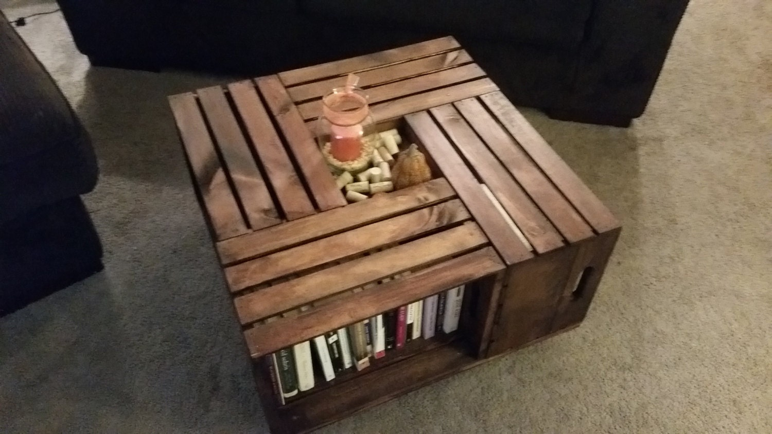 Wine crate coffee table What to do with wine crates
