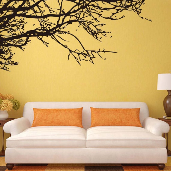 Black branch tree wall decal vinyl removable wall sticker-Tree Wall Decal-Black  Tree