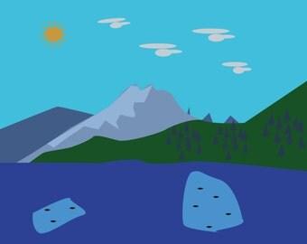 Landscape (vector illustration)
