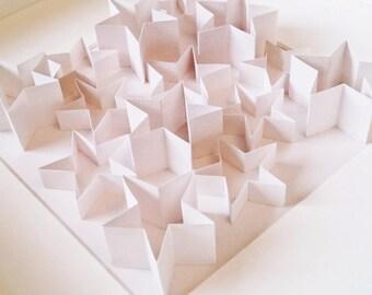 Minimalist White Star 3D wall art in Frame