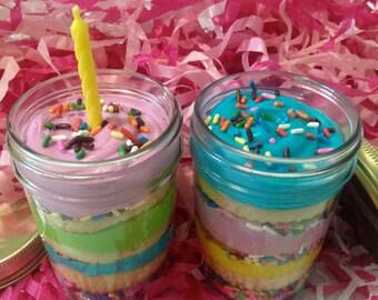 Vanilla Birthday Cake Cake Jars