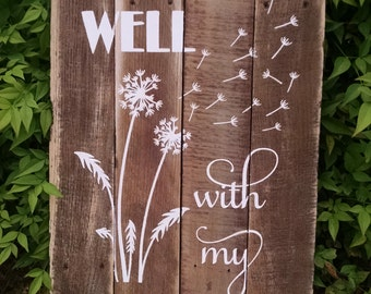 It Is Well With My Soul - Christian Home Decor - Christian Gift - Christian Wall Decor - Christian Wall Art - Christian Decor - Rustic Signs