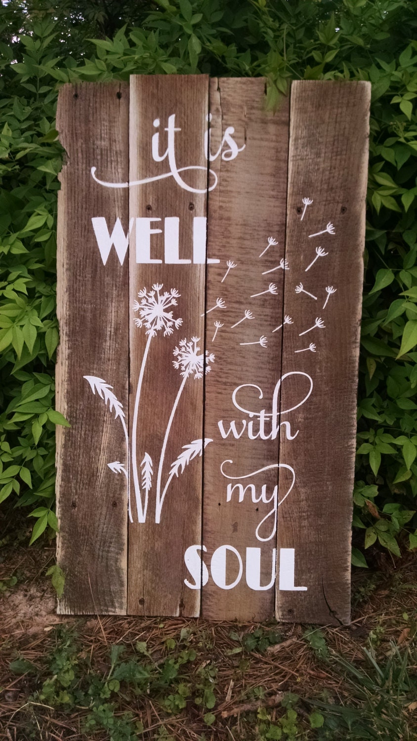 christian decor wall gifts wood soul well signs sign rustic crafts wooden pallet diy projects items painted farm hymn etsy