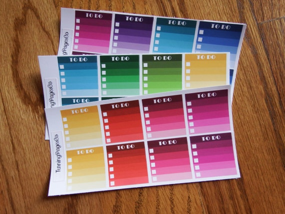 Ombre To Do List Planner Stickers