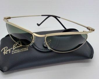 ray ban olympian 2xw2  Vintage B&L Ray Ban W2568 Olympian Matte Gold G15 Sunglasses NOS Very Rare