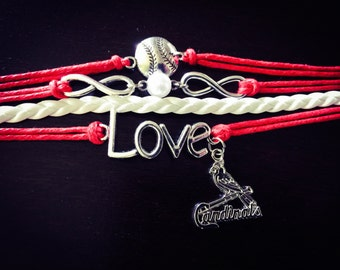 Multi Strand Cardinals Bracelet