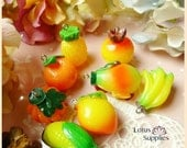 100pcs  Fruit Charms Resin Fun and Colorful  Pendant - CP 013