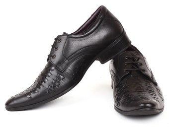 Mens Jacksin Hand Made Pure Leather Formal Designer Lace Up Shoes