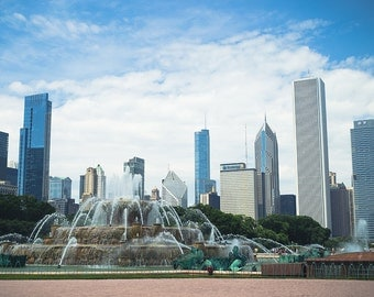 Buckingham Fountain, Chicago - City Photograph Print - Fine Art Print - Wall Decor - Grant Park // Day in the Park