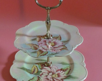 Royal Winton Flower Lustre 2 Tier Cake Stand