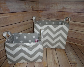 Fabric Storage Basket - Custom Made- You choose your size and fabrics!