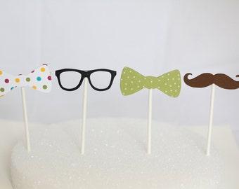 Nerd/Geek Party Cupcake Toppers