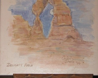 Delicate Arch Painted on Tile