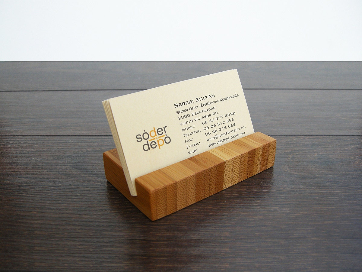 wood business card holder bamboo business card
